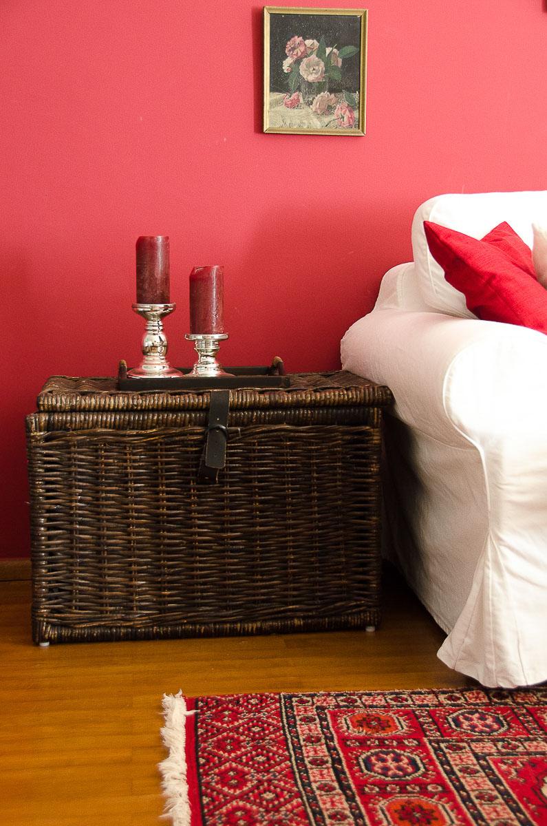 wandfarbe Farbe rot kaminrot Landhaus Landhausstil country