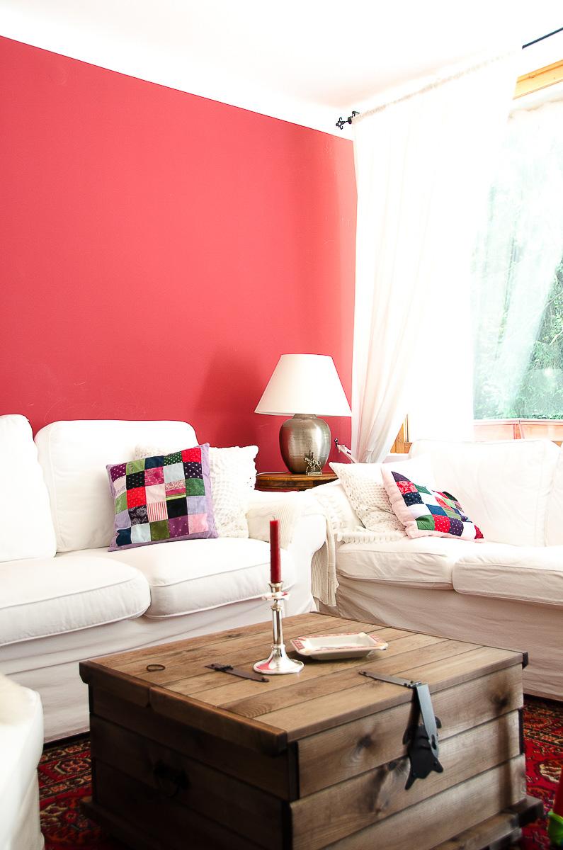 wandfarbe Farbe rot kaminrot Wohnzimmer Landhausstil country - MRS