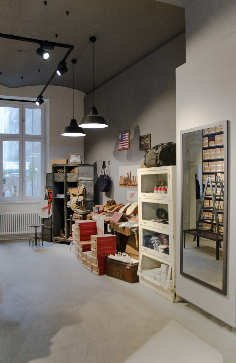 Industrieboden Boden Red Wing Shop Vienna