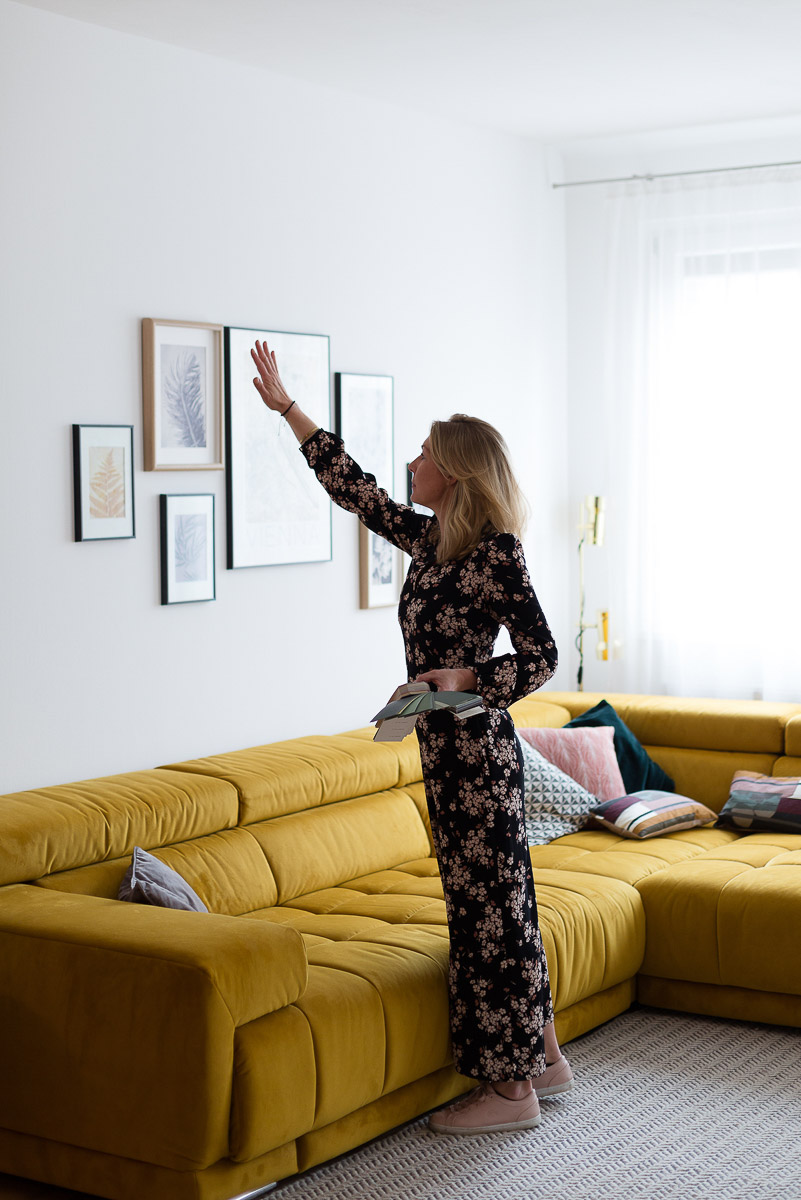 Fesselnd Wandfarbe Wohnzimmer Grün Farbe Malerei