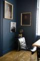 Farbanstrich mrshausner Wandfarbe Farbe Blau Lackieren Matt
