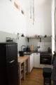 Umbau kleine Küche, Farbgestaltung, Loft Charakter, vorher/nachher, wiener Apartment