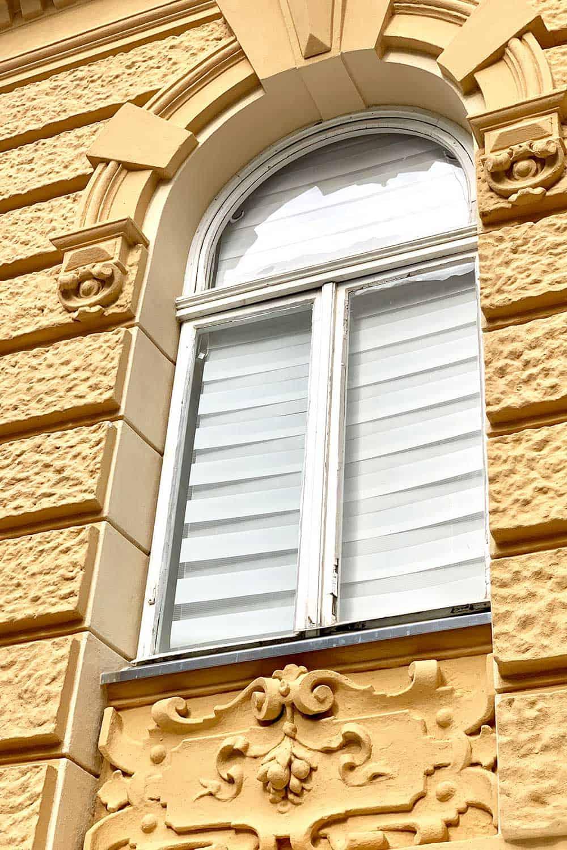 Haus Fassade Altbau Gelb