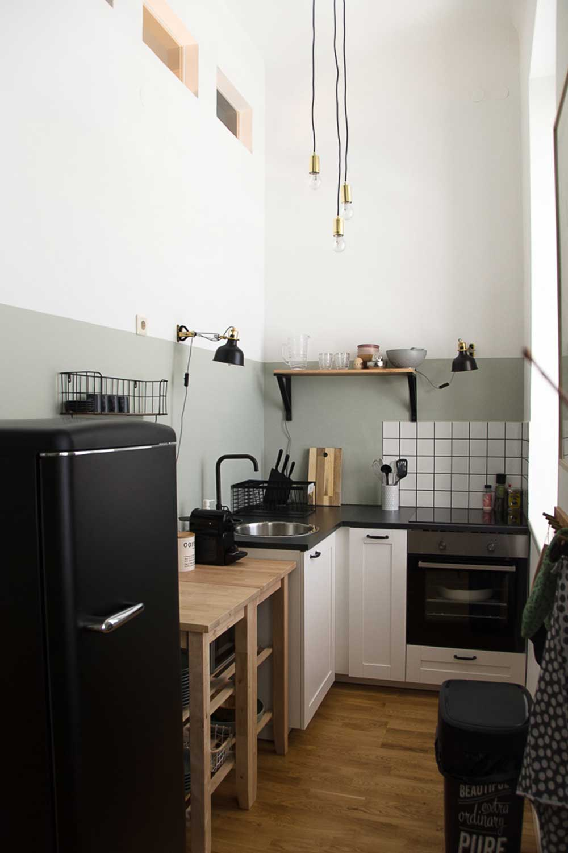 Wand Malerei Grau Küche